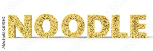 noodle in shape of noodle text Wallpaper Mural