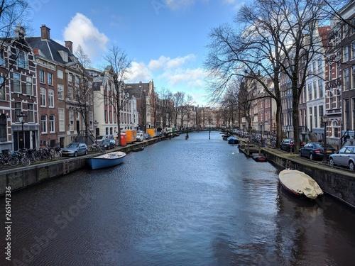 Deurstickers Amsterdam Channel in Amsterdam