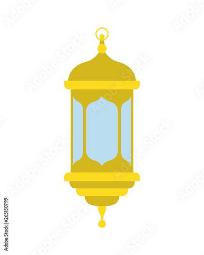 ramadan kareem lantern isolated icon Canvas Print