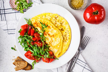 Classic Omelet With Cheese And...
