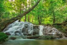 Waterfall In Autumn Forest At  Sa Nang Manora National Park ,Phang-nga Thailand