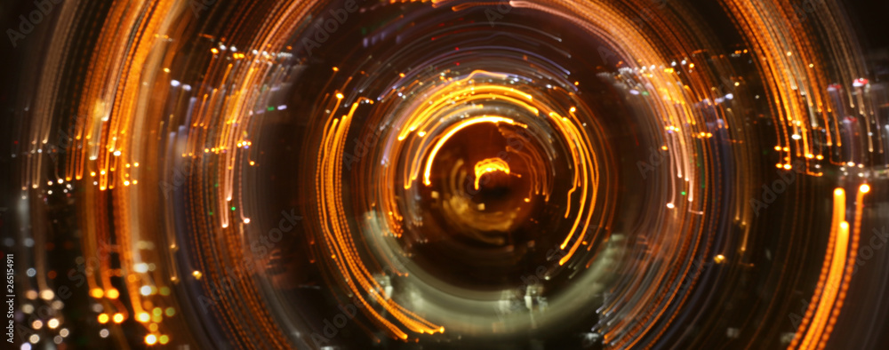 Fototapety, obrazy: concept image of seeing the Light at the End of the Tunnel. sci fi or mystery