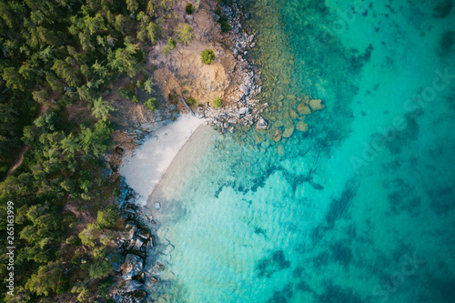 Canvas Prints Turquoise Secret Cove with Clear Water