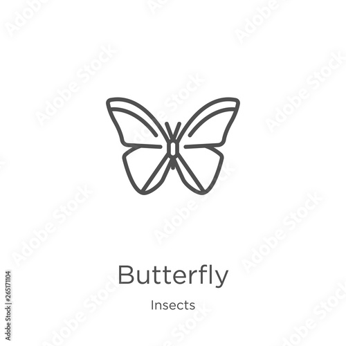 Fotografie, Obraz  butterfly icon vector from insects collection