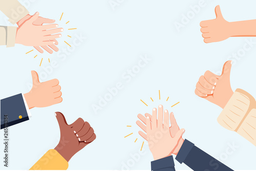 Human hands clapping Wallpaper Mural