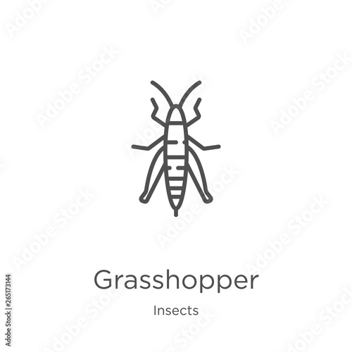 Photo grasshopper icon vector from insects collection