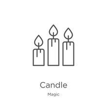 Candle Icon Vector From Magic ...
