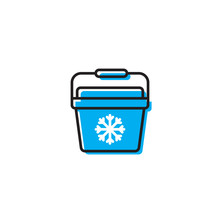 Portable Fridge Vector Icon, Ice Cooler Simple Solid Icon Isolated On White
