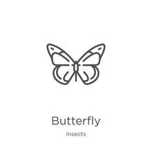 Butterfly Icon Vector From Ins...