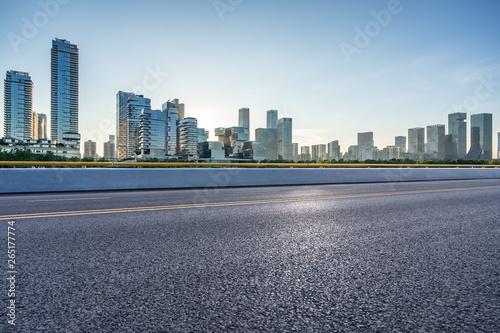 Spoed Foto op Canvas Grijze traf. view of city