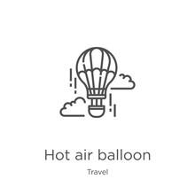 Hot Air Balloon Icon Vector Fr...