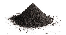 Pile Of Black Soil, Isolated On White Background