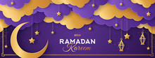Ramadan Violet And Gold Clouds