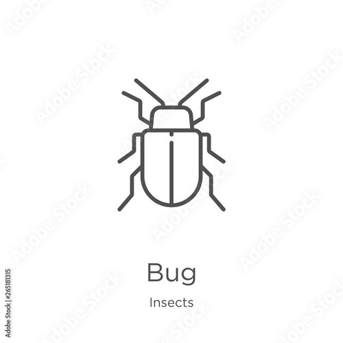 Foto bug icon vector from insects collection