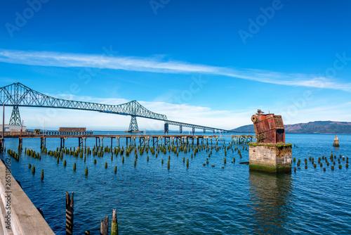 Astoria Megler Bridge and Ruined Pier Canvas Print