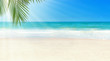 Tropical beach and sunshine. Travel summer holiday background