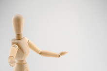 Toy Human Wood Model Presentation Action
