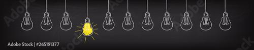 Light bulb banner concept Idea Innovation