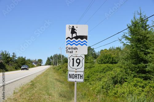 Ceilidh Trail, Cape Breton Island, Nova Scotia, Canada Fototapete