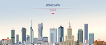 Vector Illustration Of Warsaw ...