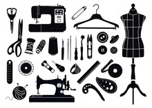Set Of Silhouettes Of Items Fo...