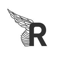 Elegant Dynamic Letter R With Wing. Linear Design. Can Be Used For Any Transportation Service Or In Sports Areas. Vector Illustration Isolated On White Background