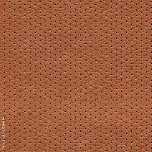 Obraz na plátně seamless brown perforated leather texture