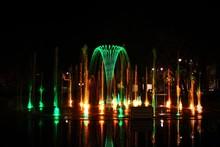 Fountain Near Filharmonia Pomorska, Bydgoszcz, Night