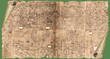 Altes Papier, Papyrusrolle mit historischer Weltkarte als Hintergrund
