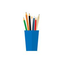 Cup Pencils Icon