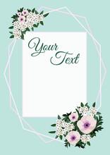 A Floral Invitation Card. Wedding Ornament Concept. Vector Decorative Greeting Card Or Invitation Design Background