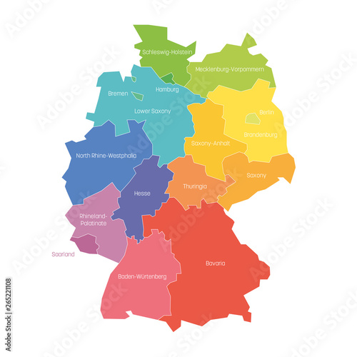 States of Germany Wallpaper Mural