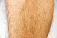 Closeup Of Hairy Leg
