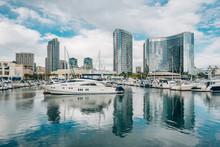 Modern Buildings And Marina At...