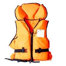 Orange Life Jacket On White Ba...