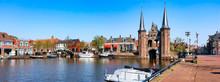 The Famous Waterpoort Gate In Sneek, Friesland, The Netherlands