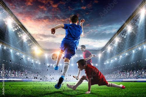 fototapeta na ścianę Little soccer champions. Mixed media