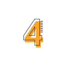 4 Year Anniversary Vector Template Design Illustration