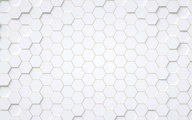Panel Szklany Minimalistyczny Abstract 3d hexagons background design, 3d rendering,conceptual image.