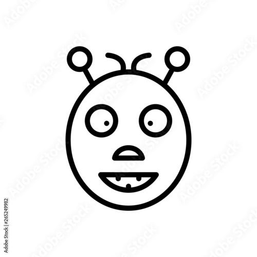 Black line icon for oddity abnormality Tablou Canvas