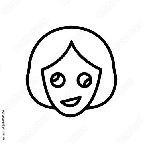 Valokuva Black line icon for oddity abnormality