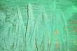 Leinwanddruck Bild - Green Paint on Wooden Wall Texture Background.