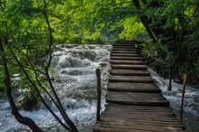 Wooden Hiking Trails In Plitvi...