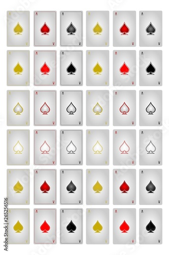 Photo Playing cards ace of spades all versions