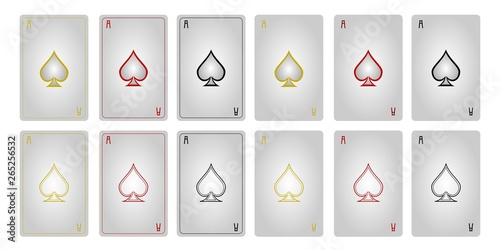 Cuadros en Lienzo  Game cards ace of spades with frames 1