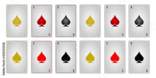 Playing cards ace of spades without frames Canvas Print