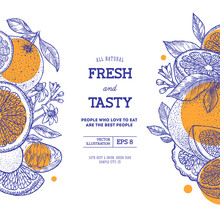 Citrus Fun Design Template. En...
