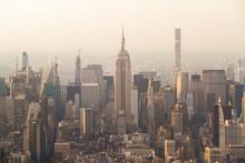 Manhattan New York With Empire...