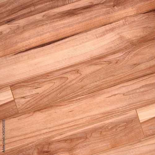 Fototapeta Fine natural solid valuable species of wood laminate parquet floor texture background. Wooden boards painted with natural oil, wax or mastic. obraz na płótnie