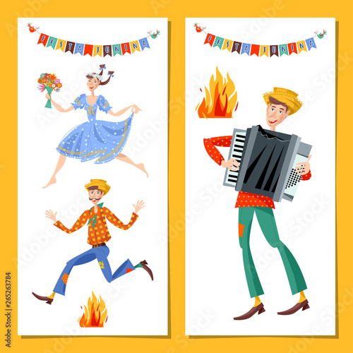 Two Greeting Cards Brazilian Holiday Festa Junina The June